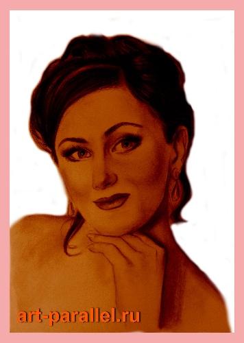 Рисовать портреты вином